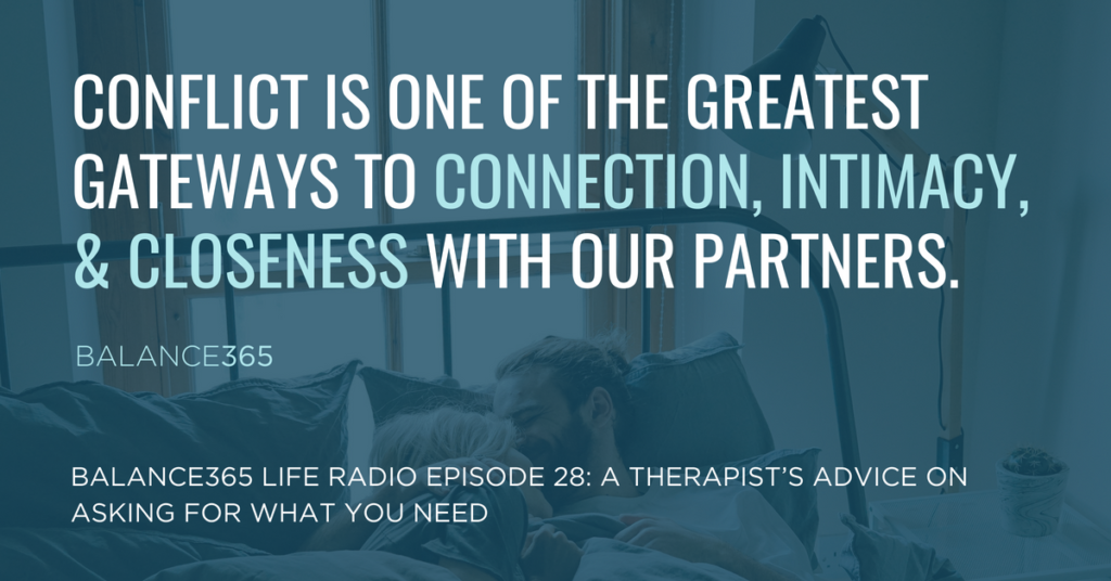 Jen and Annie are joined by a licensed marriage and family therapist, Vienna Pharaon, to explore practical ways to open the lines of communication in your relationship to help get your needs met, how to better hear your partners need and consider a different perspective on the role of conflict.