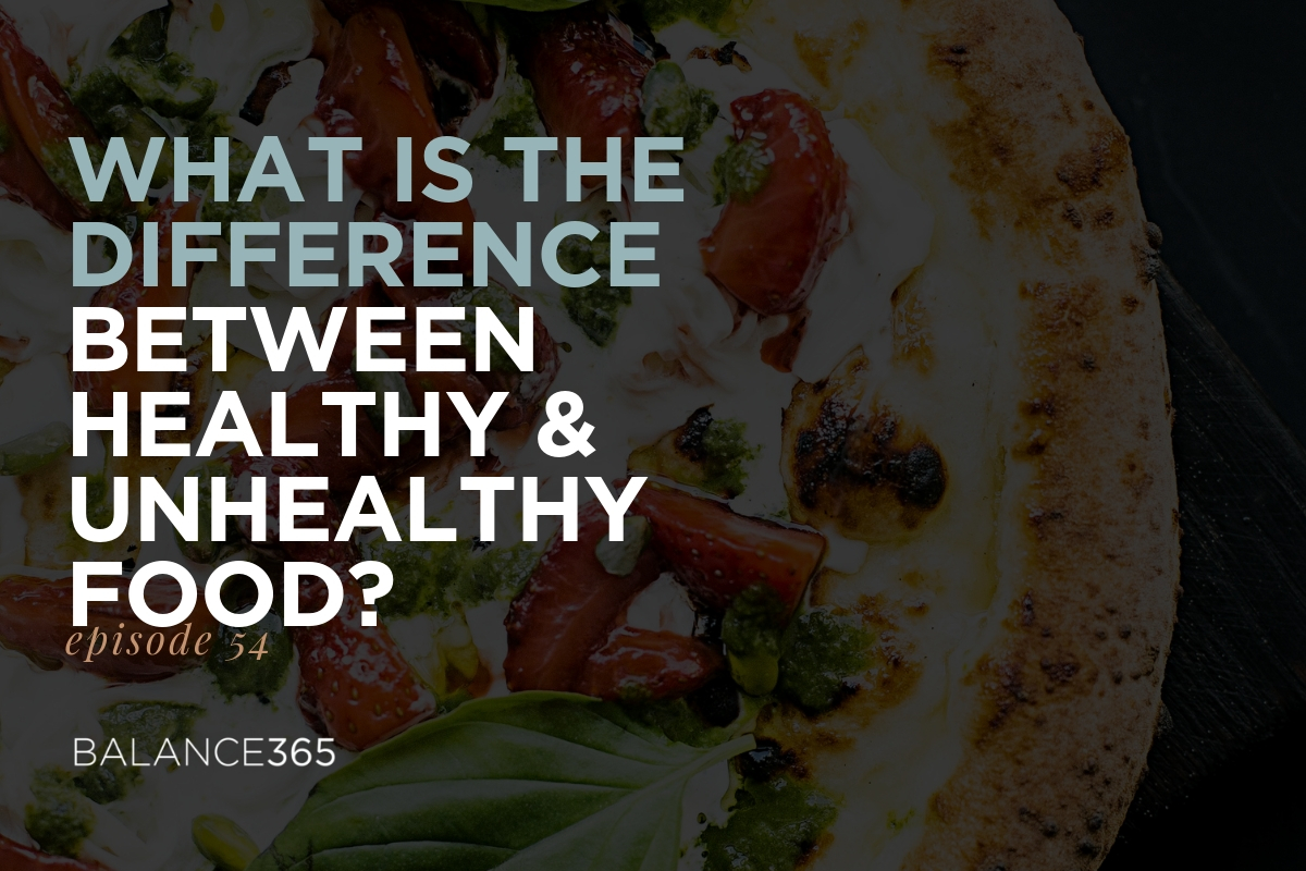 54: What is the difference between healthy & unhealthy food
